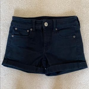 American Eagle Outfitters black jean shorts